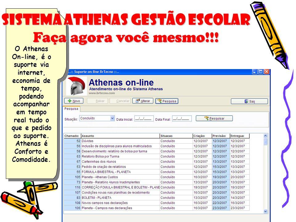 Sistema Athenas Gestão Escolar Faça agora você mesmo!!!