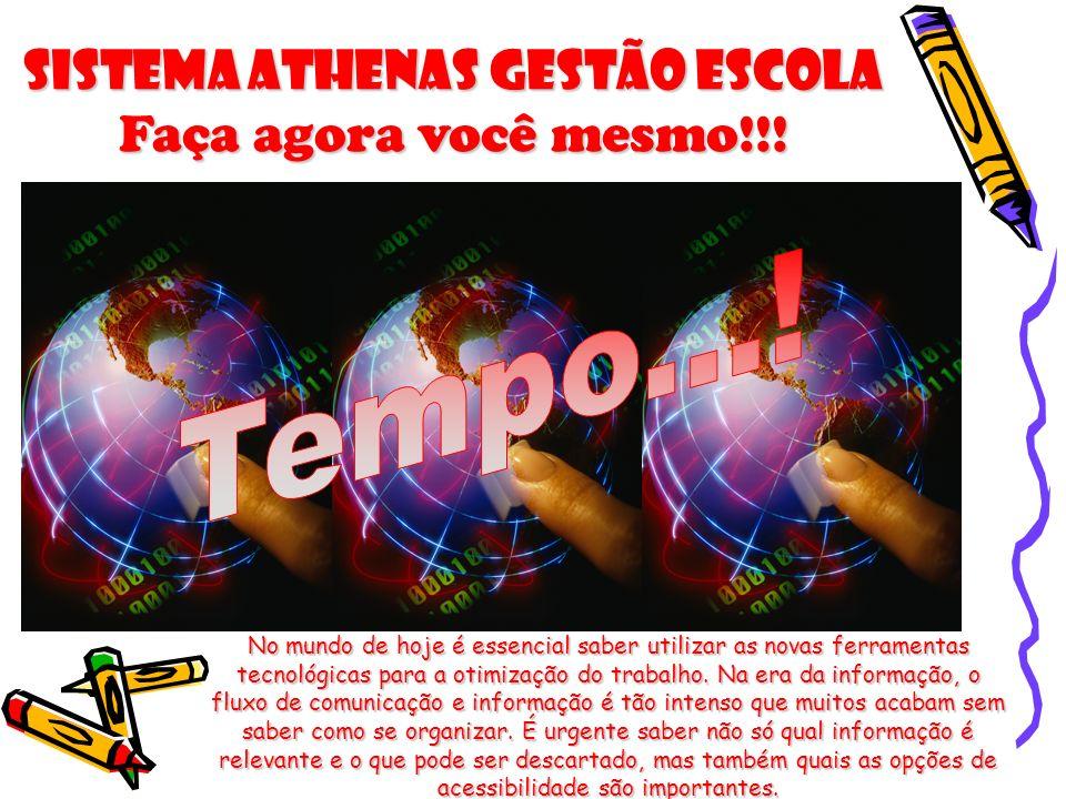 Sistema Athenas Gestão Escola Faça agora você mesmo!!!