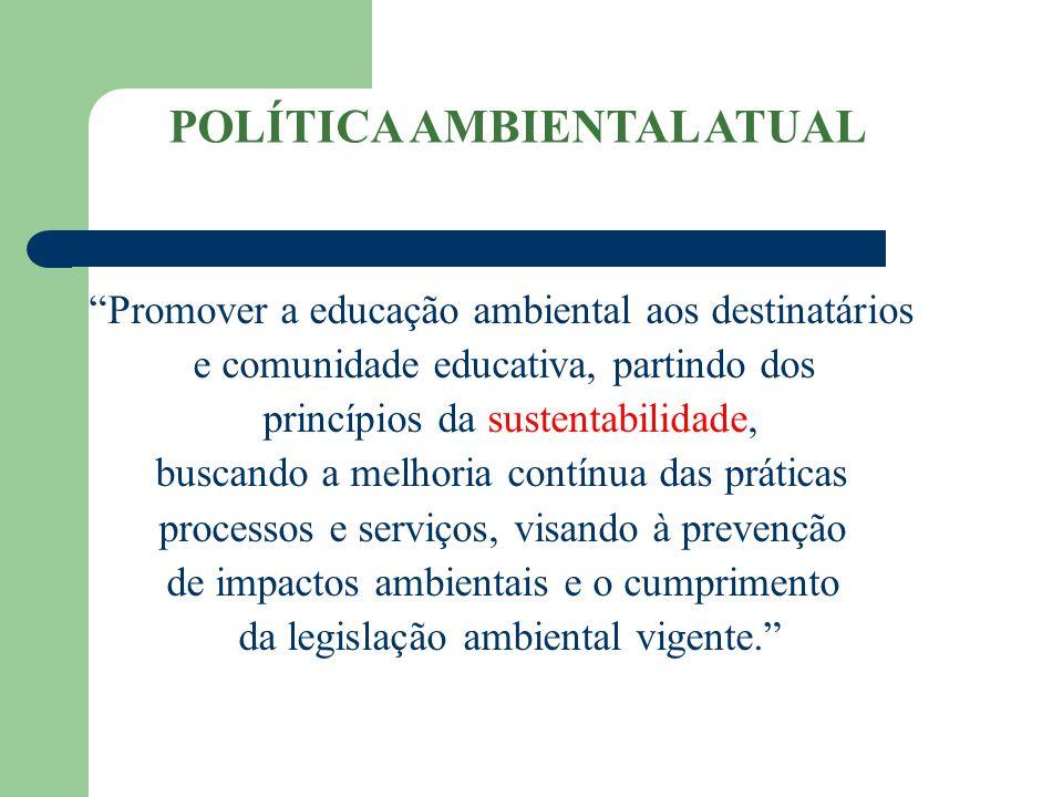 POLÍTICA AMBIENTAL ATUAL