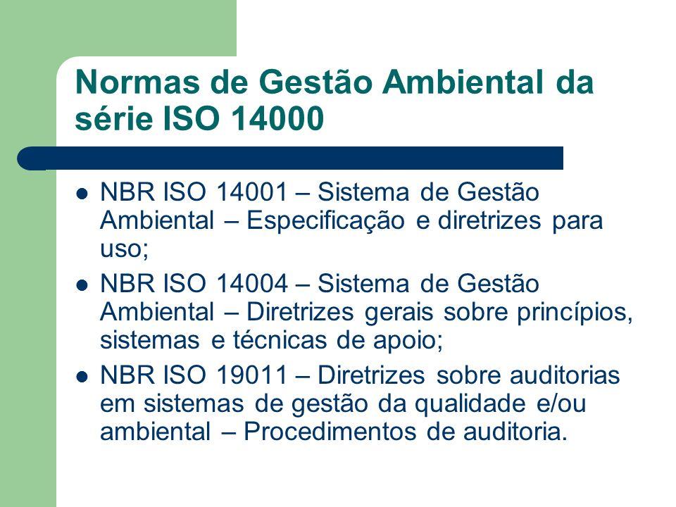 Normas de Gestão Ambiental da série ISO 14000