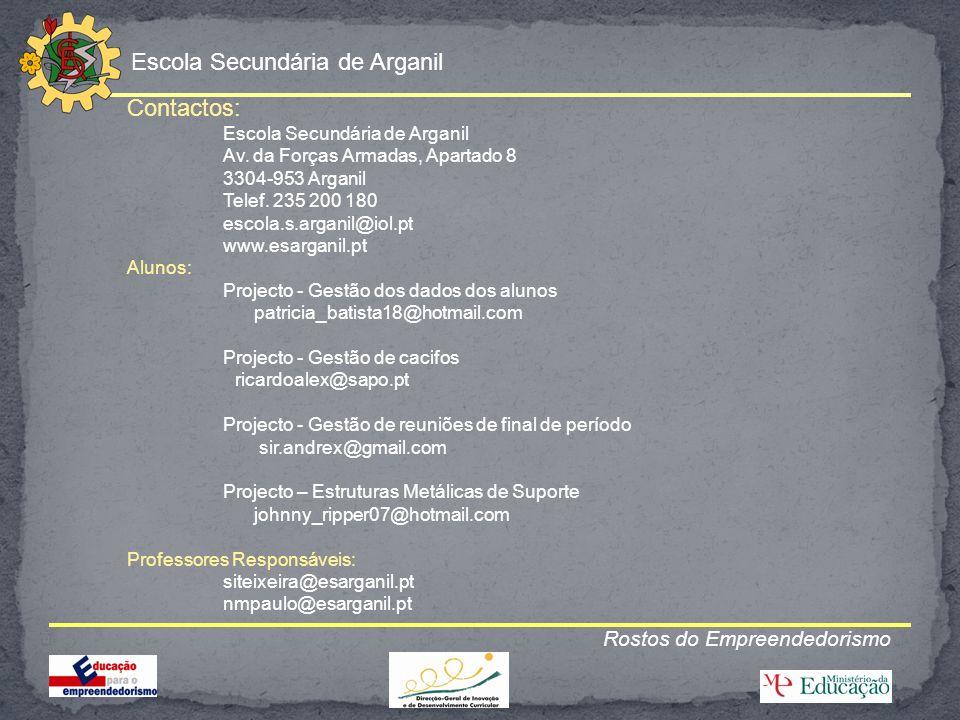 Contactos: Rostos do Empreendedorismo Escola Secundária de Arganil