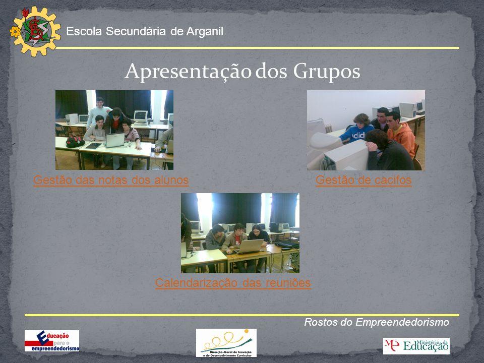 Apresentação dos Grupos