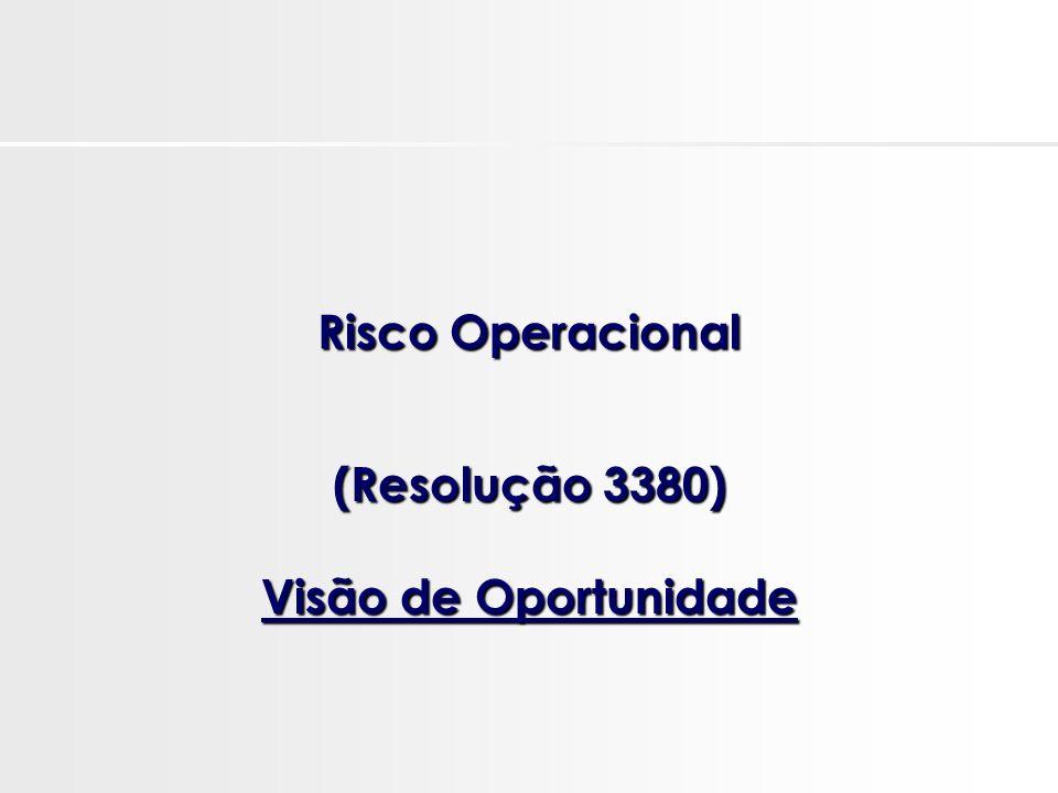 (Resolução 3380) Visão de Oportunidade