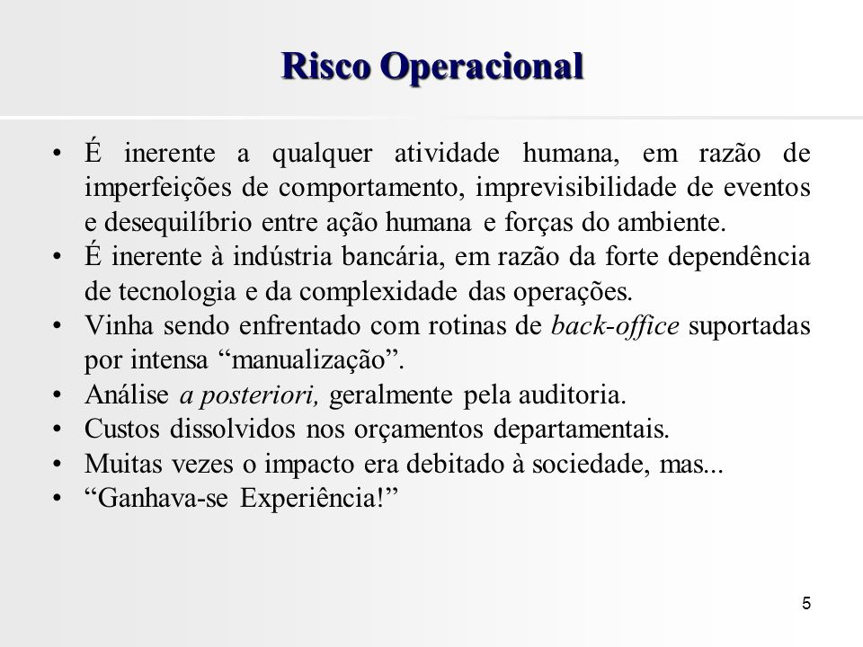 Risco Operacional