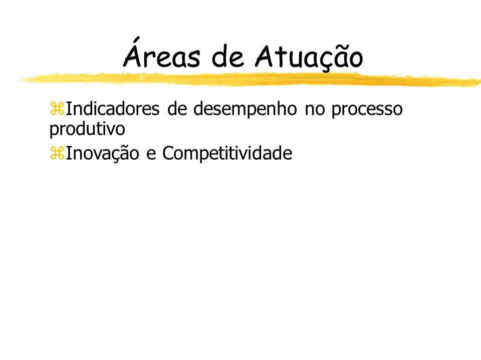 Áreas de Atuação Indicadores de desempenho no processo produtivo