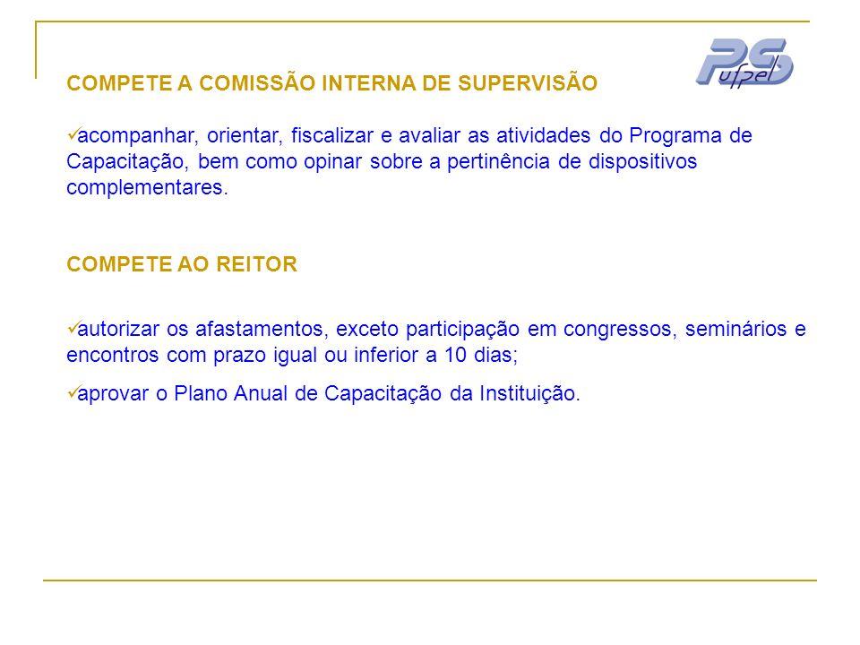 COMPETE A COMISSÃO INTERNA DE SUPERVISÃO