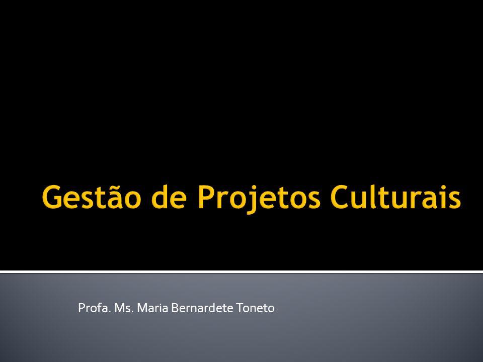 Gestão de Projetos Culturais