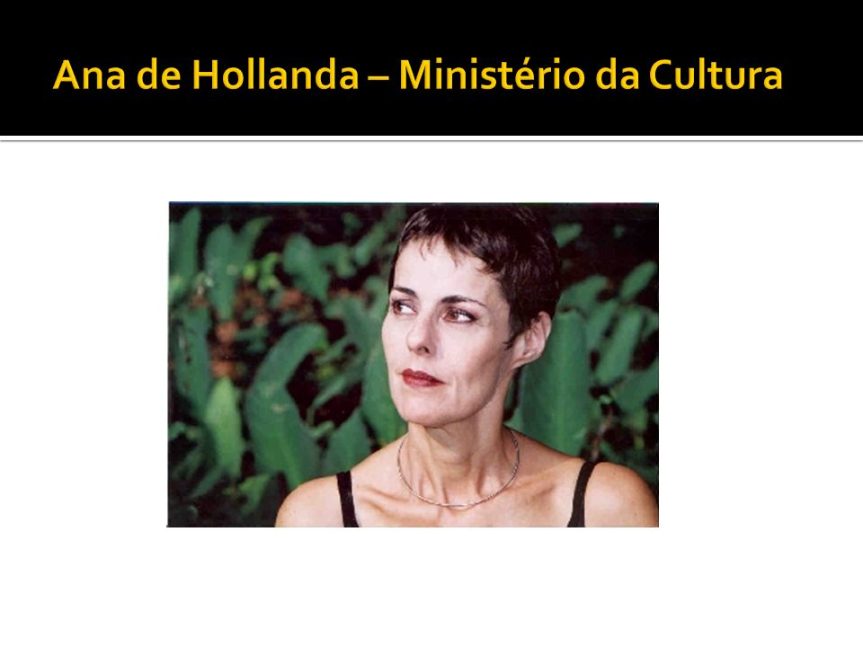 Ana de Hollanda – Ministério da Cultura
