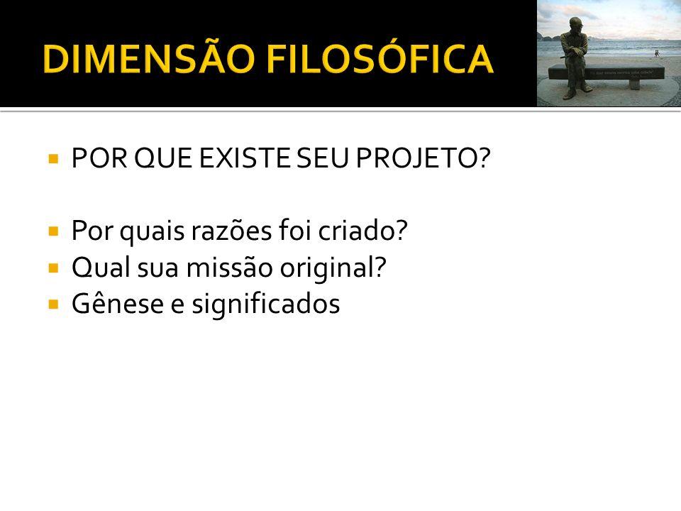 DIMENSÃO FILOSÓFICA POR QUE EXISTE SEU PROJETO