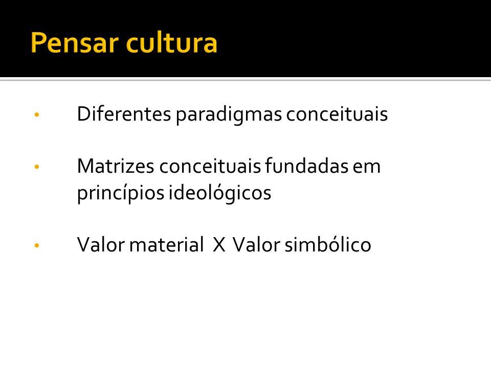 Pensar cultura Diferentes paradigmas conceituais