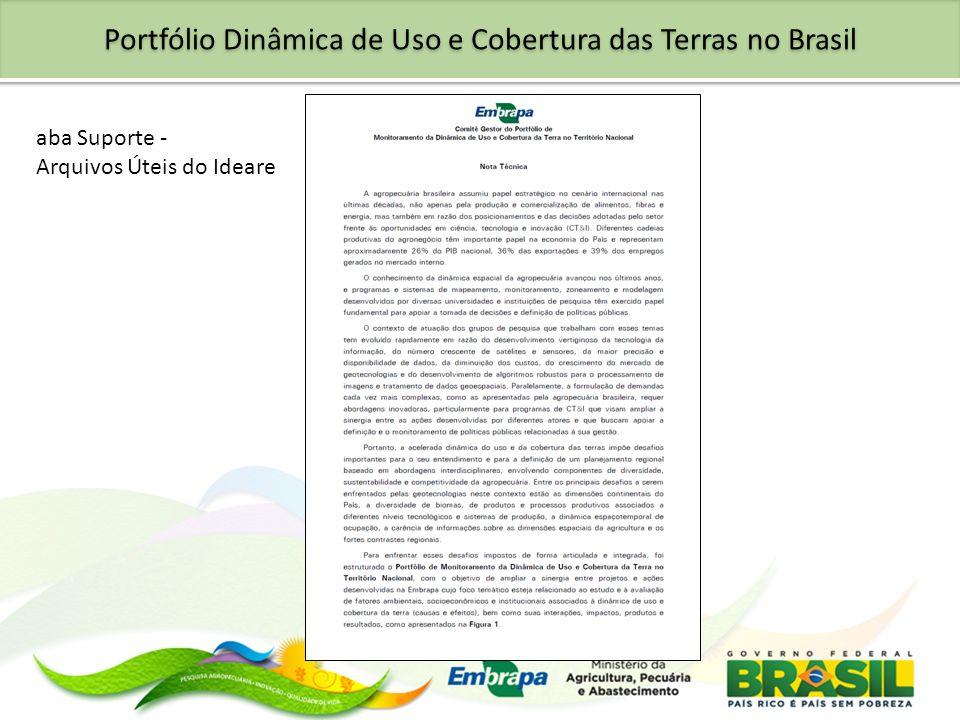 Portfólio Dinâmica de Uso e Cobertura das Terras no Brasil