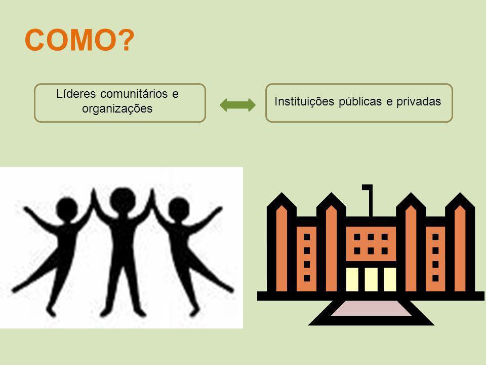 Líderes comunitários e organizações