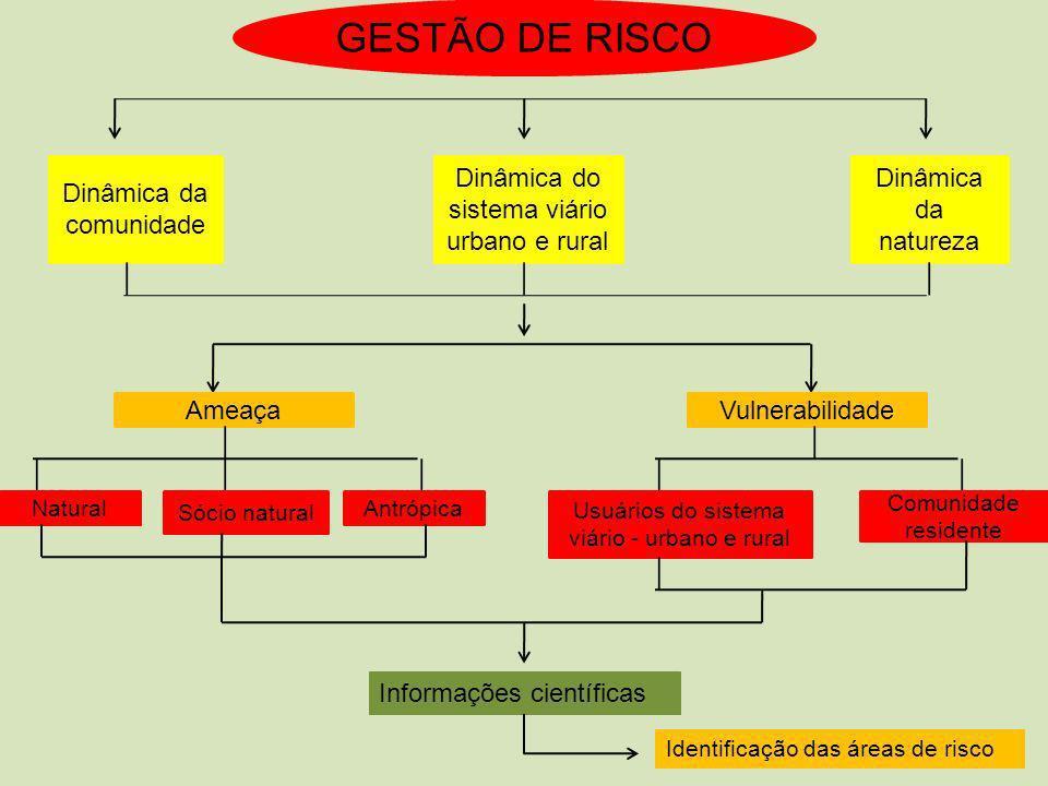 GESTÃO DE RISCO Dinâmica da comunidade
