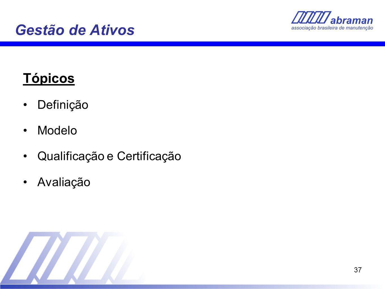 Gestão de Ativos Tópicos Definição Modelo Qualificação e Certificação