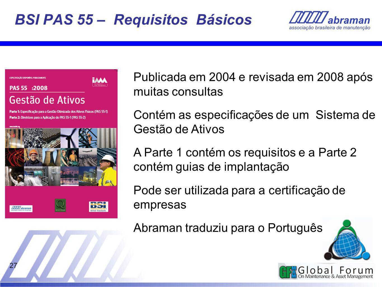BSI PAS 55 – Requisitos Básicos