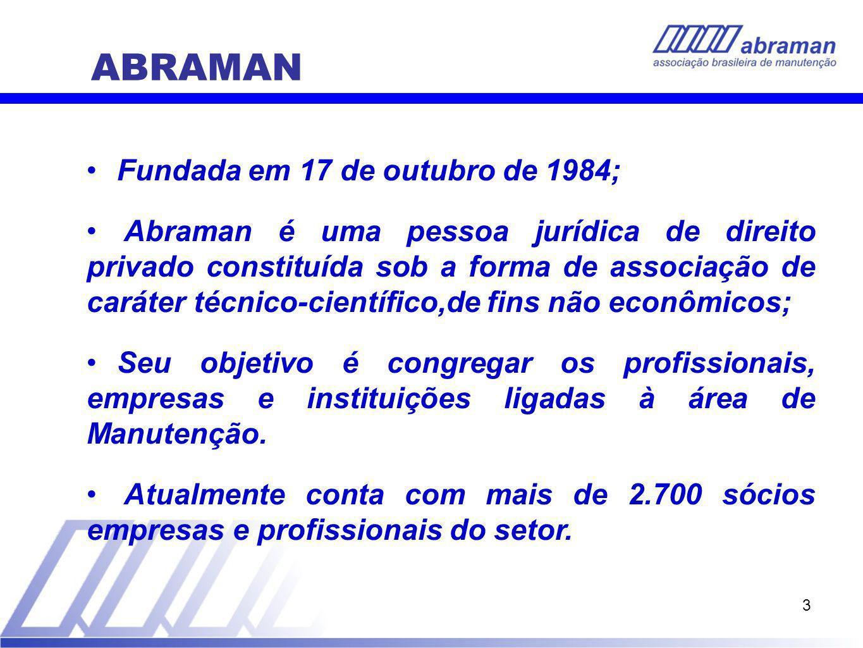 ABRAMAN Fundada em 17 de outubro de 1984;