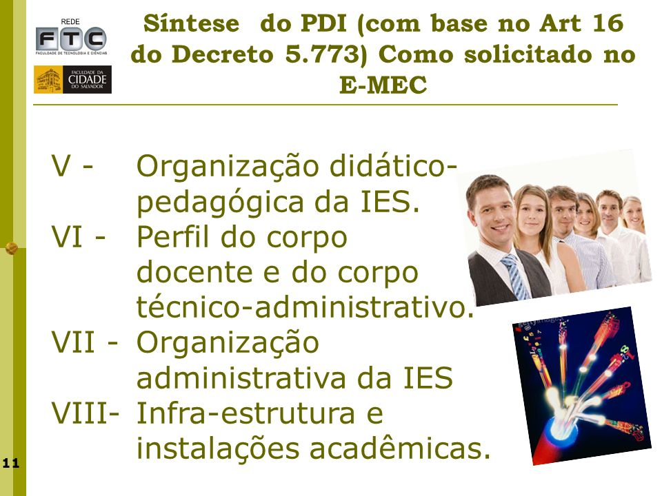 V - Organização didático-pedagógica da IES.