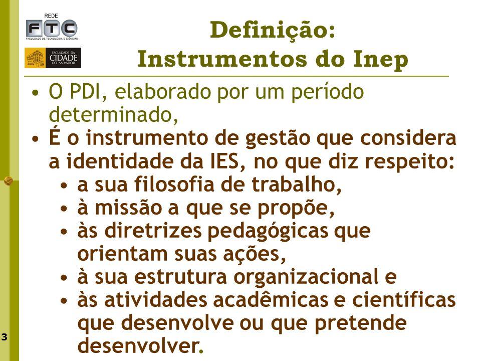Definição: Instrumentos do Inep
