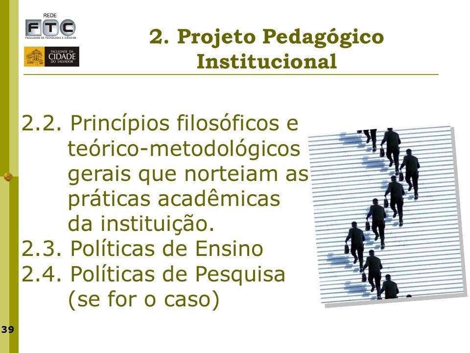 2. Projeto Pedagógico Institucional