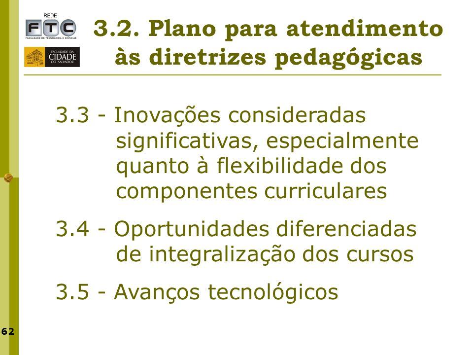 3.2. Plano para atendimento às diretrizes pedagógicas