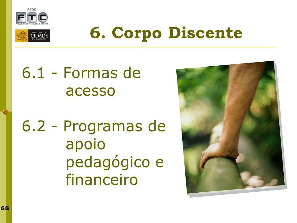 6. Corpo Discente 6.1 - Formas de acesso