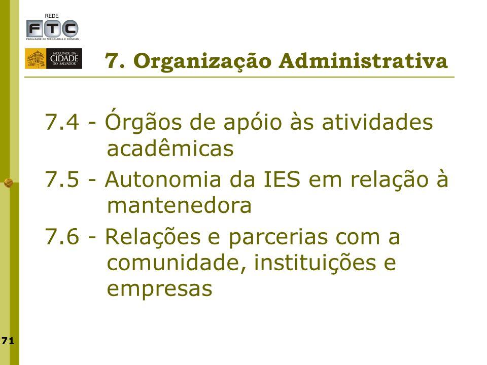 7. Organização Administrativa