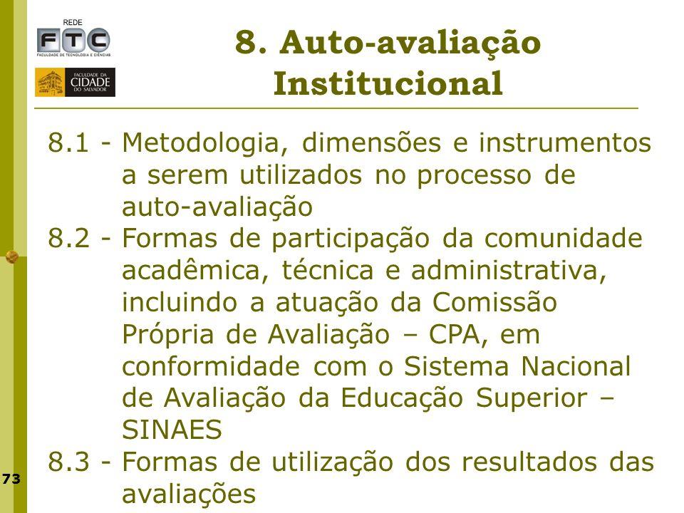 8. Auto-avaliação Institucional