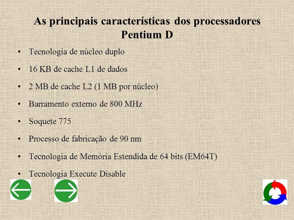 As principais características dos processadores Pentium D