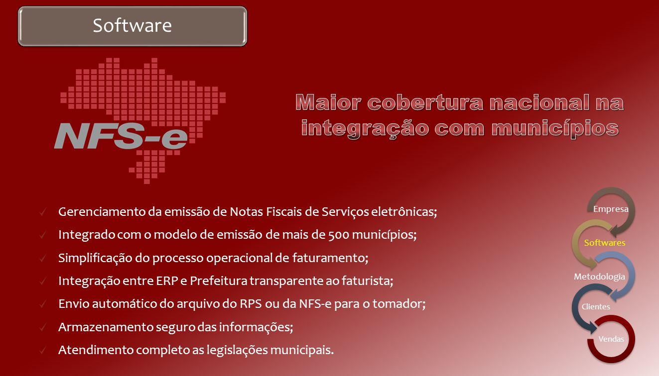 Maior cobertura nacional na integração com municípios