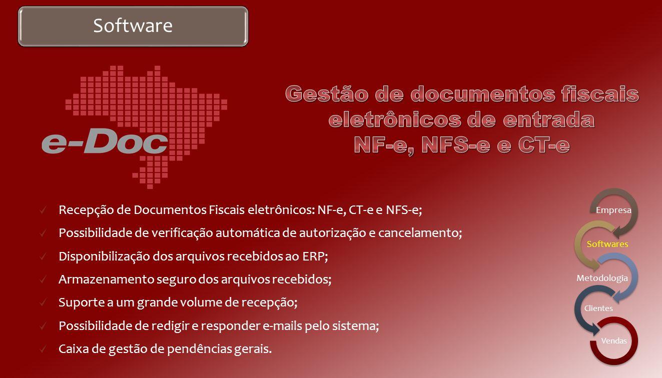 Gestão de documentos fiscais eletrônicos de entrada