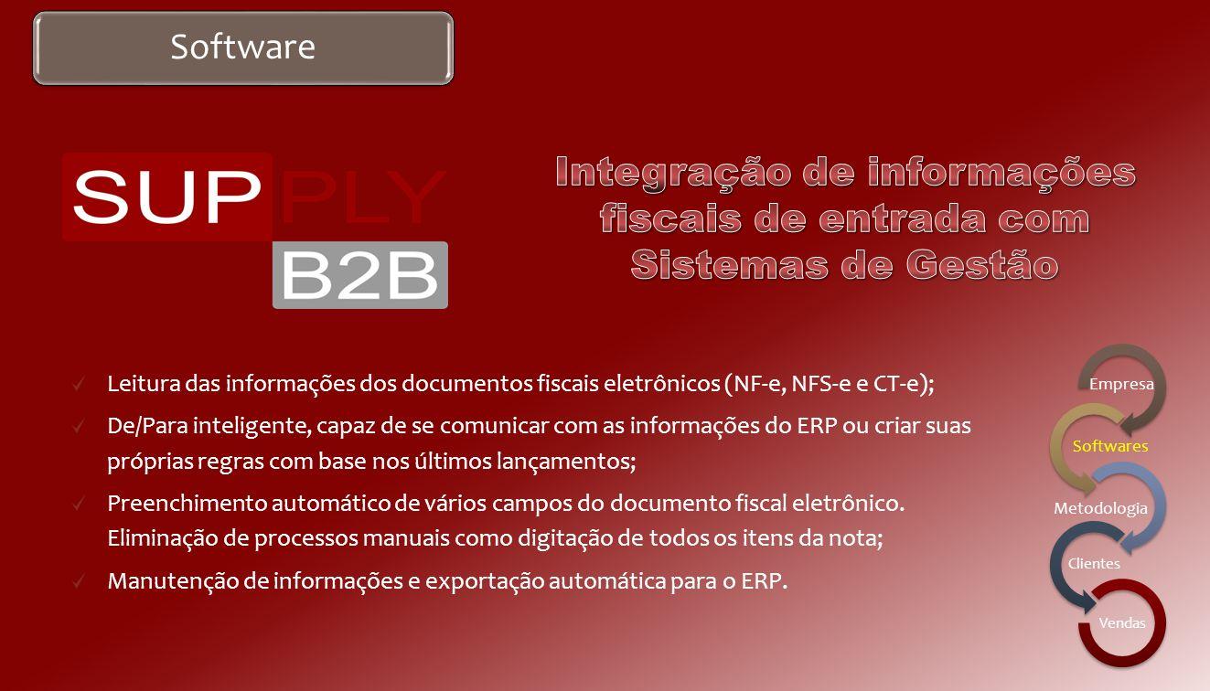 Integração de informações fiscais de entrada com Sistemas de Gestão