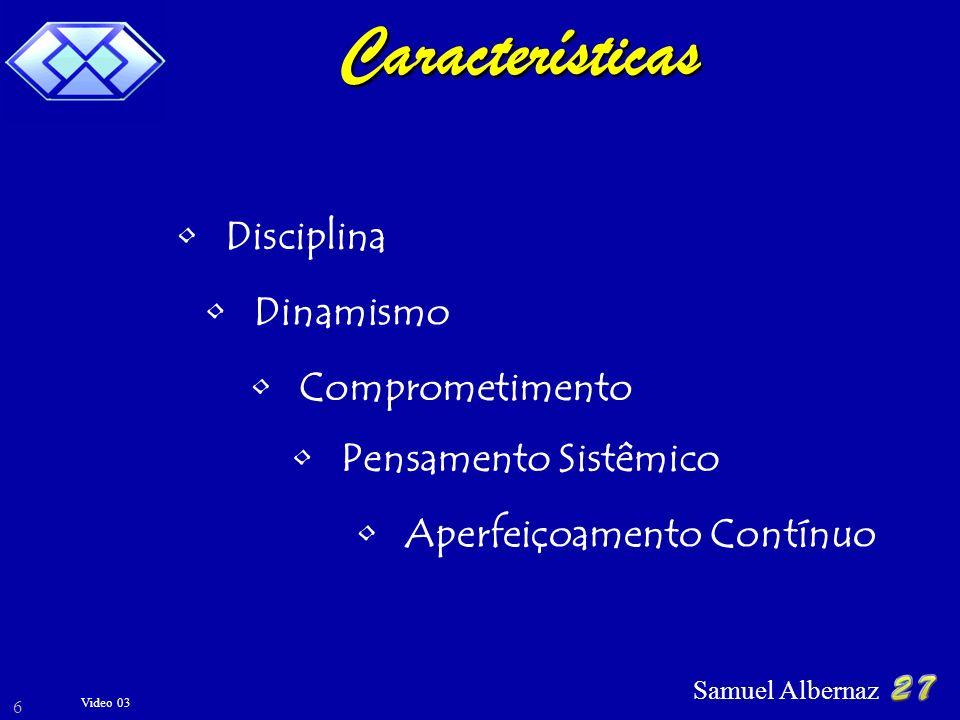 Características Disciplina Dinamismo Comprometimento