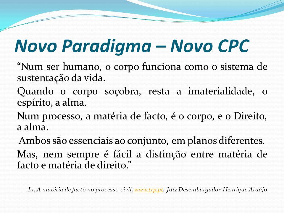 Novo Paradigma – Novo CPC