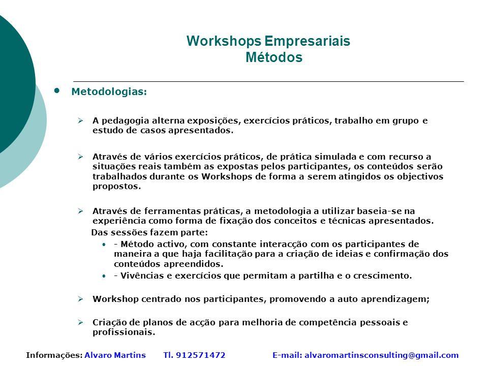 Workshops Empresariais Métodos