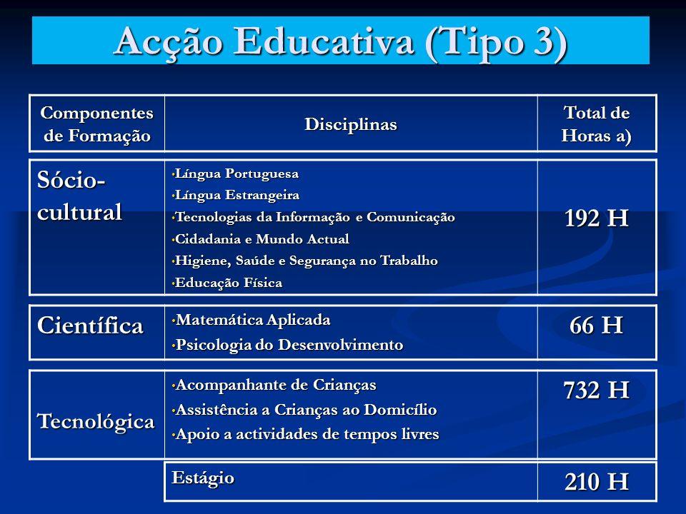 Acção Educativa (Tipo 3)