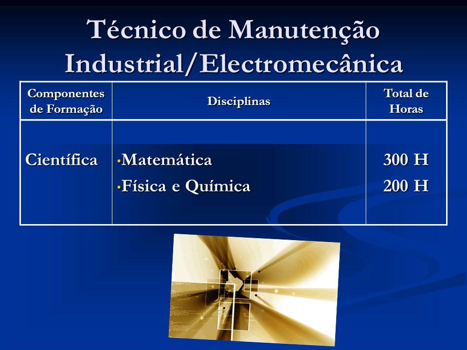 Técnico de Manutenção Industrial/Electromecânica