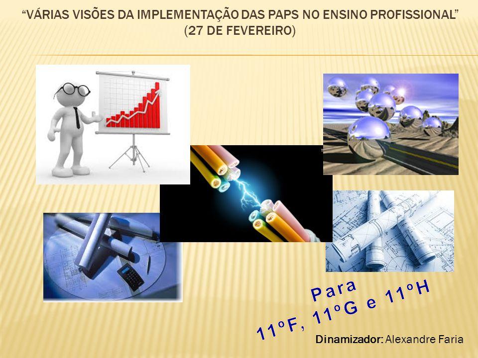 Várias visões da implementação das PAPs no ensino profissional (27 de fevereiro)