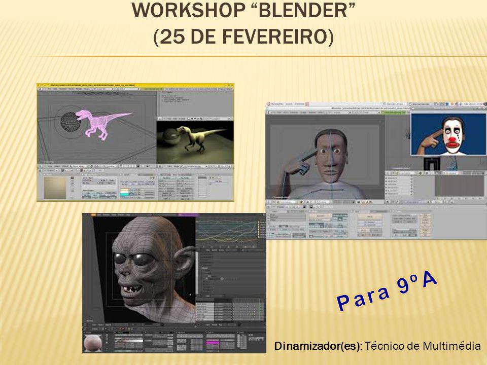 Workshop Blender (25 de fevereiro)