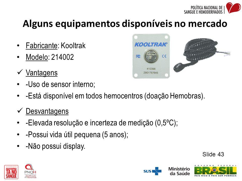 Alguns equipamentos disponíveis no mercado