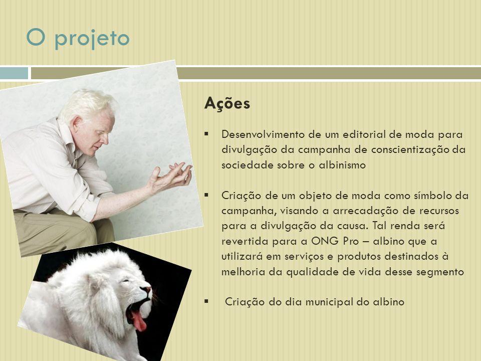 O projeto Ações. Desenvolvimento de um editorial de moda para divulgação da campanha de conscientização da sociedade sobre o albinismo.