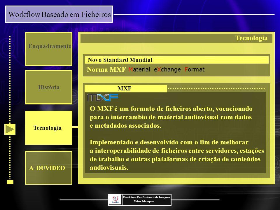O MXF é um formato de ficheiros aberto, vocacionado