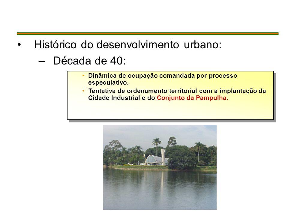 Histórico do desenvolvimento urbano: Década de 40: