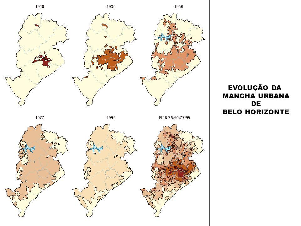 EVOLUÇÃO DA MANCHA URBANA DE BELO HORIZONTE