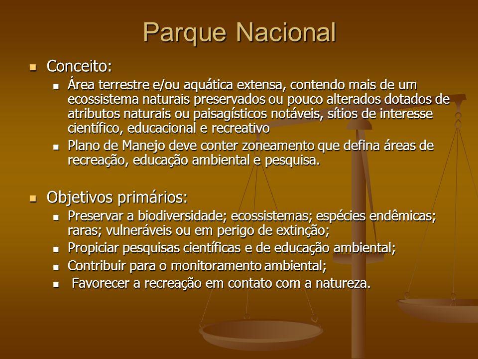 Parque Nacional Conceito: Objetivos primários: