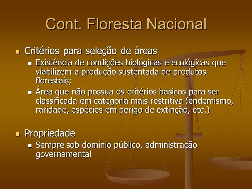 Cont. Floresta Nacional
