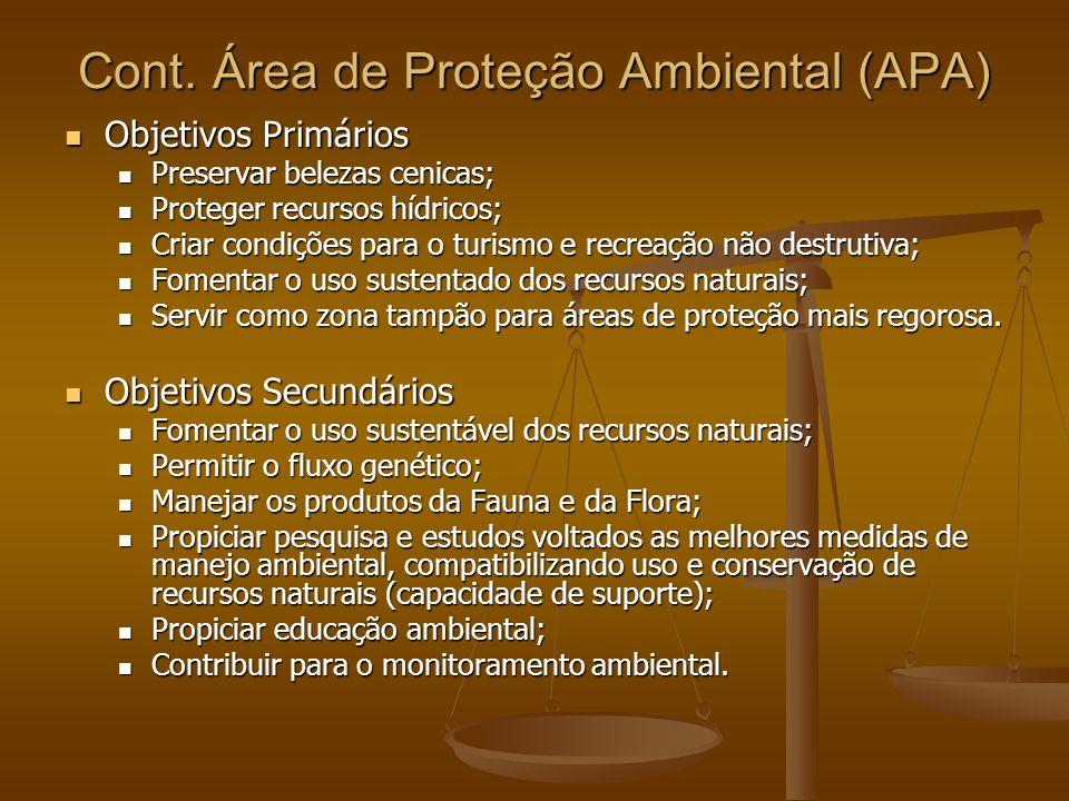 Cont. Área de Proteção Ambiental (APA)