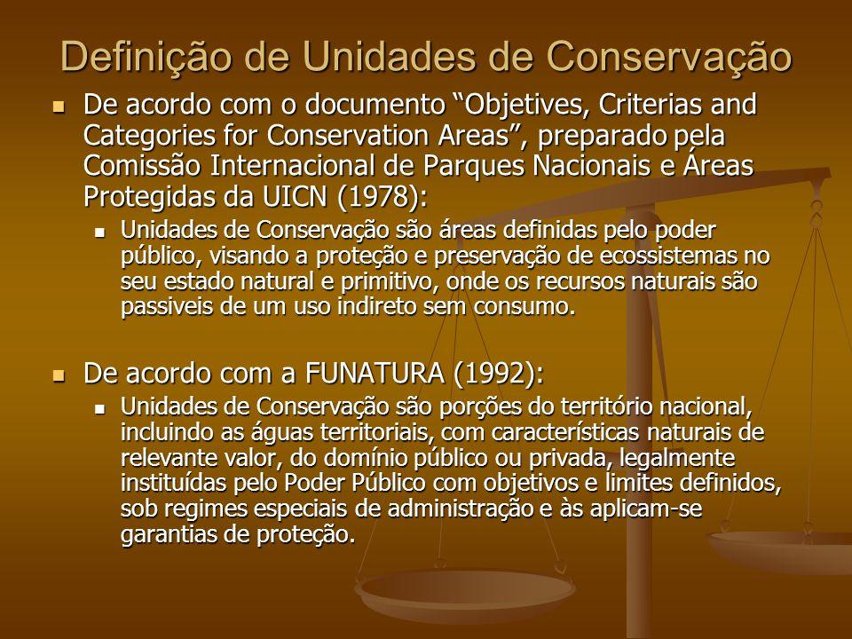 Definição de Unidades de Conservação