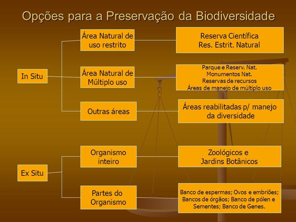 Opções para a Preservação da Biodiversidade