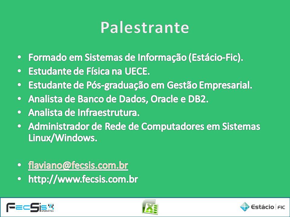Palestrante Formado em Sistemas de Informação (Estácio-Fic).