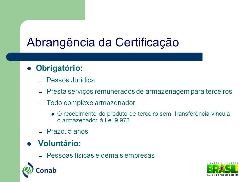 Abrangência da Certificação